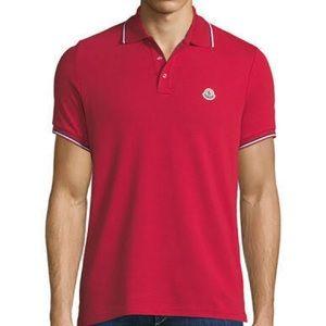 46ccabdb Moncler Shirts | 250 Navy Blue Polo Tshirt Tee L | Poshmark